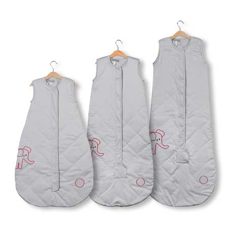 NEW Save Our Sleep, Safe Baby Sleep Bag  'Elzzie Elephant, Platinum' Travel 0.5, 1 TOG or 2.5 TOG