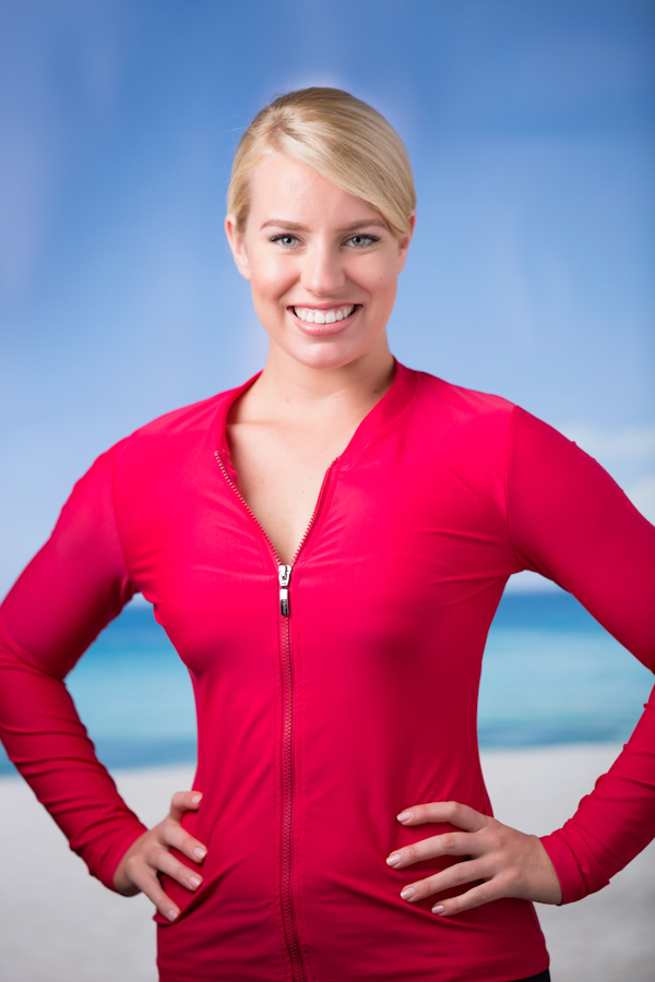 Babes in the Shade Ladies Sunshirt - Red - Size 14
