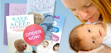 Save Our Sleep Feeding and Tizzie Hall's Save Our Sleep Book, also keep baby warm with baby safe baby sleeping bags